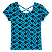 Total Girl® Cross-Back Short-Sleeve Top - Girls 7-16 and Plus