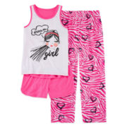 Total Girl® Dream Girl 3-pc. Pajama Set - Girls 7-16