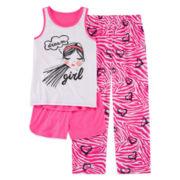 Total Girl® Dream Girl 3-pc. Pajama Set - Girls 7-16