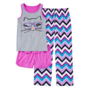 Total Girl® Cat 3-pc Pajama Set - Girls 7-16