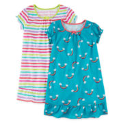 Okie Dokie® 2-pc. Dorm Sleep Shirt Set - Toddler Girls 2t-4t