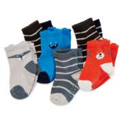 Carter's® 6-pk. Critter Socks - Baby Boys newborn-24m
