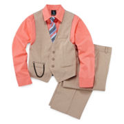 Steve Harvey® 4-pc. Poplin Vest Set - Boys 8-20