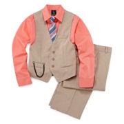 Steve Harvey® 4-pc. Poplin Vest Set - Boys 8-20