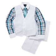 Steve Harvey® 4-pc. Vest, Pants, Shirt, Tie Set - Boys 8-20