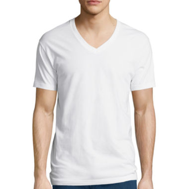 jcpenney.com | Stafford® 3-Pk. Cotton Stretch V-Neck T-Shirts