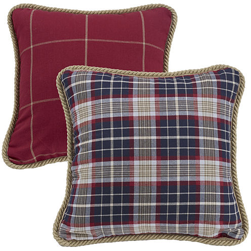 Jcpenney Red Decorative Pillows : HiEnd Accents South Haven Reversible Plaid Decorative Pillow - JCPenney
