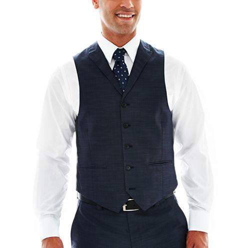 Steve Harvey® 5-Button Sharkskin Vest