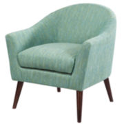 Devon Rounded Track-Arm Chair
