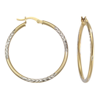 jcpenney.com | Diamond-Cut Hoop Earrings