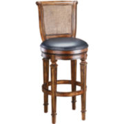 Dalton Swivel Cane Back Barstool