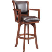 Reno Bonded Leather Swivel Barstool