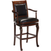 Douglas Upholstered Swivel Barstool with Back