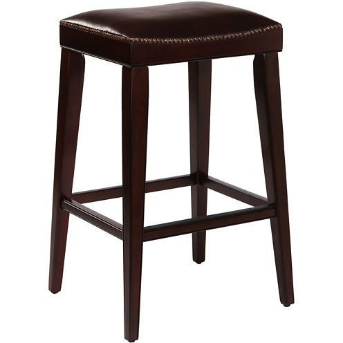Riverton Backless Saddle Barstool