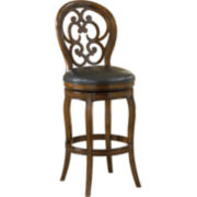 Alexandra Swivel Barstool with Back