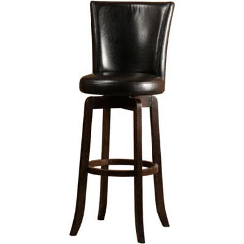 Copenhagen Upholstered Swivel Barstool with Back