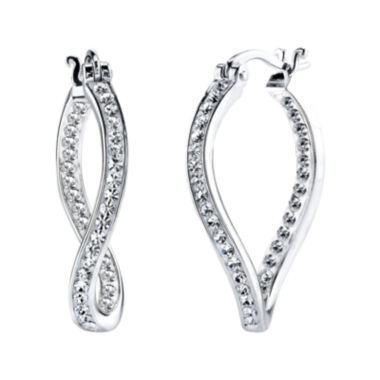 jcpenney.com | Crystal Sophistication™ Crystal-Accent Twist Earrings