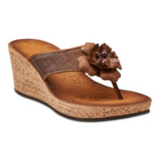 Clarks® Mimmey Claire Cork Wedge Sandals