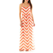 Bisou Bisou® Chevron Print Maxi Dress