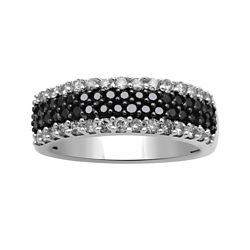 CLOSEOUT! 1 CT. T.W. White & Color-Enhanced Black Diamond Band