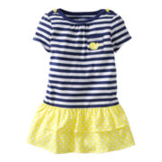 Carter's® Navy Striped Dress - Girls newborn-24m