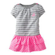 Carter's® Gray Striped Dress - Girls newborn-24m