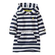 Carter's® Navy Striped Hoodie - Girls 6m-24m