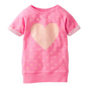 Carter's® Pink French Terry Heart Tunic - Girls 2t-4t