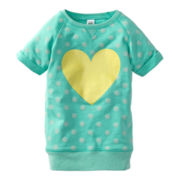 Carter's® Mint French Terry Heart Tunic - Girls 2t-4t