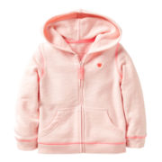 Carter's® Pink French Terry Hoodie - Girls 2t-4t
