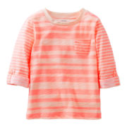 Carter's® Peach Striped Pocket Tee - Girls 5-6x