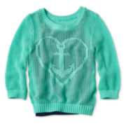 Arizona Mixed-Stitch Icon Sweater - Girls 6-16 and Plus