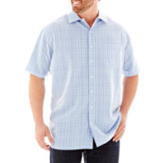 The Foundry Supply Co.™ Textured Plaid Woven Shirt-Big & Tall