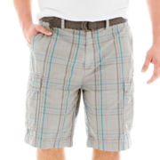 The Foundry Supply Co.™ Overdyed Cargo Shorts-Big & Tall