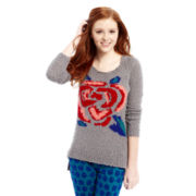 L'Amour Nanette Lepore Rose Pattern Sweater