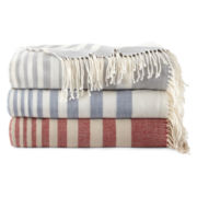 JCPenney Home Acrylic Striped Throw