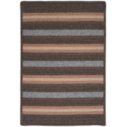 Fairfield Striped Reversible Braided Rectangular Rugs
