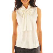 9 & Co.® Solid Tie-Neck Blouse