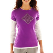 Made For Life™ Long-Sleeve Layered Tee - Petite