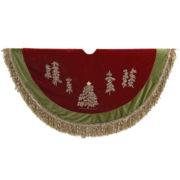 Kurt Adler Trees with Ribbon Trim Tree Skirt