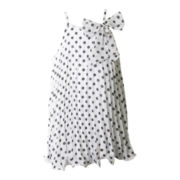 Pinky Sleeveless Polka Dot Trapeze Dress – Girls 4-6x