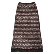 Speechless Lace-Trimmed Maxi Skirt - Girls 7-16