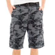 Plugg® Camo Belted Cargo Shorts
