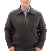 Excelled® Lambskin Leather Bomber–Big & Tall