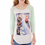 Disney Frozen Raglan-Sleeve Graphic Tee