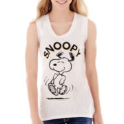 Freeze Peanuts Snoopy Graphic Tank Top