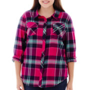 Arizona Long-Sleeve Plaid Shirt - Plus