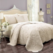 Vue™ Charlotte Faux-Fur 3-pc. Coverlet Set & Accessories