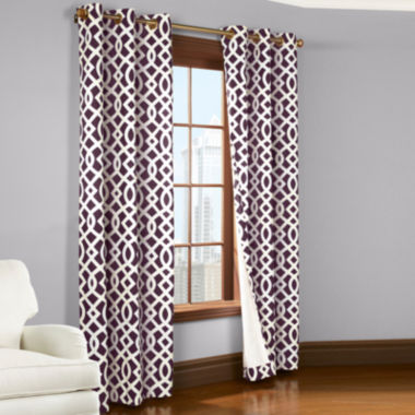 jcpenney.com | Trellis 2-Pack Thermal Cotton Grommet-Top Curtain Panels