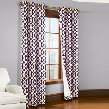 Trellis Grommet Top Curtain Panel Pair